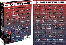 ford mustang evolution 1000 piece jigsaw puzzle nm