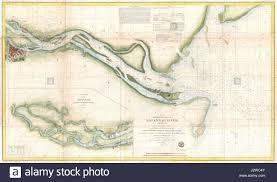 Map Of Washington And Oregon by 1855 U S Coast Survey Chart Stock Photos U0026 1855 U S Coast Survey