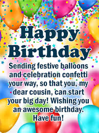 send this beautifull greeting balloons birthday balloon cards for cousin birthday greeting cards by