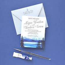 destination wedding save the date mountain save the date