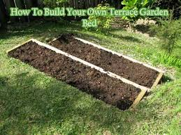 how to build your own terrace garden bed