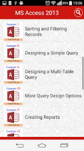 microsoft access for android ms access tutorial free android apps on play