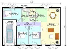 plan maison plain pied 3 chambres en l construction 86 fr plan maison plain pied de type 6 à revoir