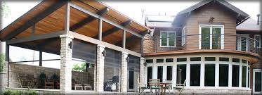 Garage With Screened Porch Motorized Screens For Decks Patios Porches Garages Louisville