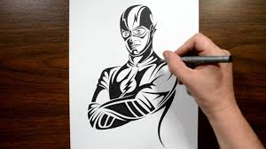 how to draw the flash tribal design style