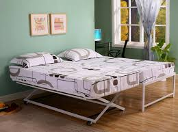 white metal pop up trundle daybed for adults decofurnish