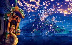 Disney Castle Wall Mural Disney Tangled Castle And Lanterns Wall Mural