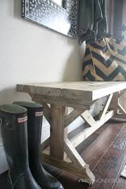 diy bench and my finished entry crazy wonderful