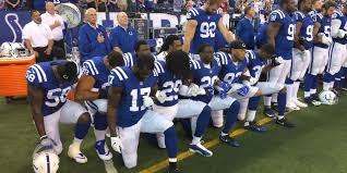 nfl anthem social media reaction to colts players kneeling