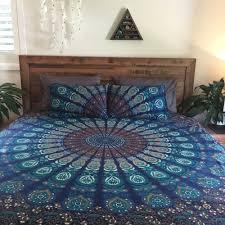 Indian Print Duvet Bedroom Hippie Bed Sets Hippie Bedspread Hippie Duvet Covers