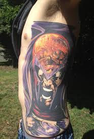 color me impressed sick magneto side piece tattoo geekologie