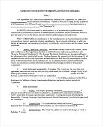 sample maintenance contract forms 8 free documents in word pdf