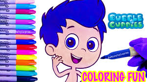 bubble guppies gil coloring page fun speed coloring activity with