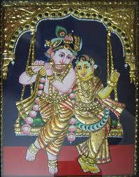 How To Decorate Mandir At Home Thanjavur Painting Wikipedia