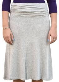 knee length skirt grey knee length skirt with flowing a line modli