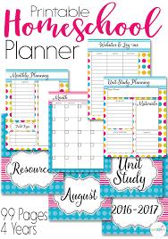 printable planner cover 2016 printable homeschool planner in watercolor design
