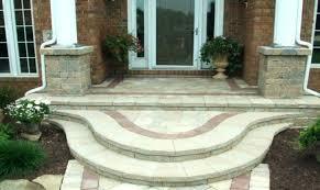 back porch steps ideas medium size of concrete front porch steps