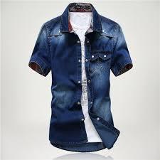 2017 high quality long sleeve denim shirts men casual shirt