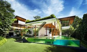 gorgeously designed willow house in singapore