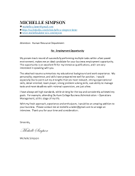 michelle simpson neutral cover letter