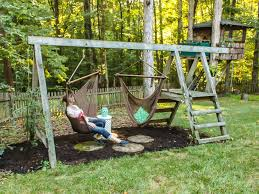 Backyard Cing Ideas For Adults Impressive Backyard Swings Best 25 Backyard Swings Ideas On
