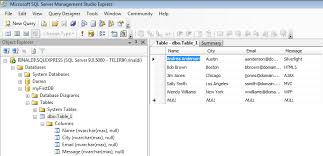 how to view table in sql access sql database