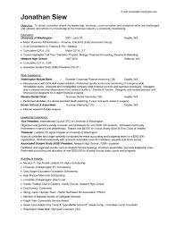 Example Of Internship Resume by Accounting Intern Resume Objective Intern Resumes Internship