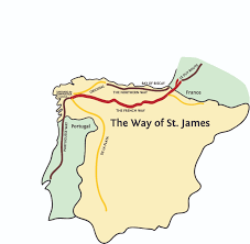 Camino Frances Map by Way Of St James Camino De Santiago The Way Of St James St