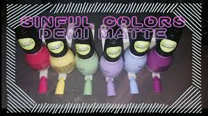 sinfulcolors demi matte collection youtube