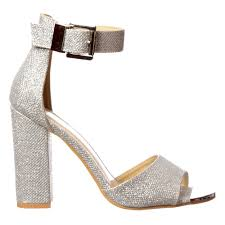 silver mid heels fs heel