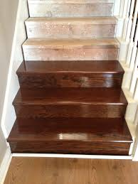 Clear Coat For Wood Floors So Here Is The Pine Tread With One Coat Of Minwax Espresso One