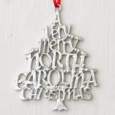 pewter a merry carolina ornament