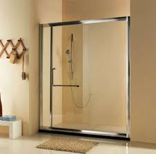 bathroom cool frame frosted sliding glass shower doors with