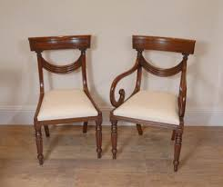 Regency Dining Chairs Mahogany Regency Dining Chairs