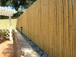 using bamboo fencing rolls as wall coverings design idea and