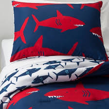Red And White Comforter Sets Great White Get Together Comforter Set Blue Pillowfort Target