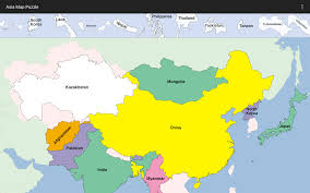 Asia Map With Country Names by Asia Map Puzzle Android Apps On Google Play