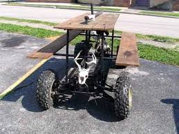 Plans To Build A Round Picnic Table by Redneck Engineering 110cc Picnic Table Walk Around Youtube