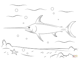 quality free swordfish fish coloring pages kids printable