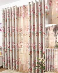 style ivory grey soundproof curtains with printing flowers