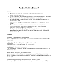 the great gatsby chapter 4 handout