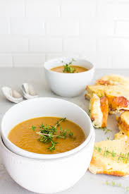 miso butternut squash soup with toast grilled cheese yeah