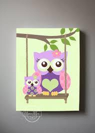 Owl Wall Decor by Owl Wall Nursery Canvas Canvas Owl Decor Wall