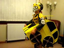 Transformer Halloween Costume Bumblebee Transformer Homemade Halloween Costume