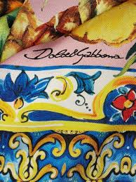 Light Blue Dolce And Gabbana Womens Dolce U0026 Gabbana Majolica And Pineapple Print Silk Scarf Yellow