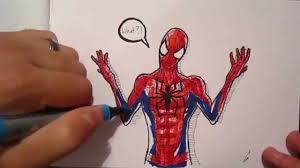 sketch 25 marvel spiderman winter soldier drawing