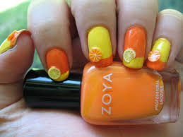 60 most beautiful orange nail art ideas