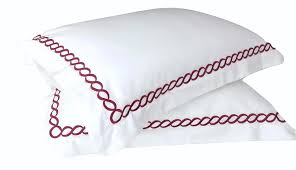 Cotton Duvet Cover Modern Hotel Red And White Embroidered Cotton Bedding Duvet Cover
