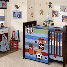 Sports Themed Crib Bedding Teddy Sports Crib Bedding Blue Green And Baby Bedding