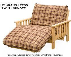 twin size futon lounger frame grand teton style